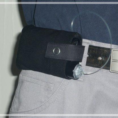 housse noire pour pompe à insuline